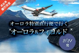 オーロラ特別直行便で行くオーロラ&フィヨルド