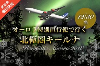 12/30発 オーロラ特別直行便で行く 北極圏キールナ