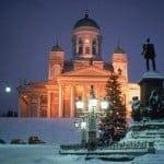 雪景色のヘルシンキ大聖堂_B