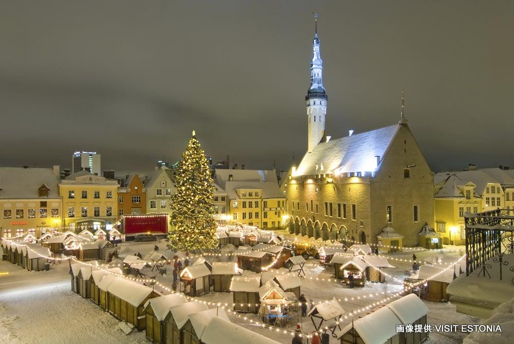 Christmas Market, Town Hall Square, Tallinn, Estonia