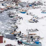 イルリサットのたくさんの漁船